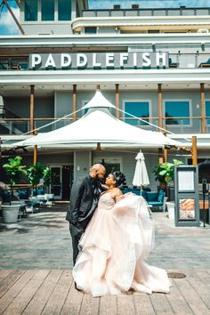 After canceling their Disney wedding due to COVID-19 and postponing five more times, Mariah and Robert planned their Paddlefish wedding at Disney Springs in just 3 months!
