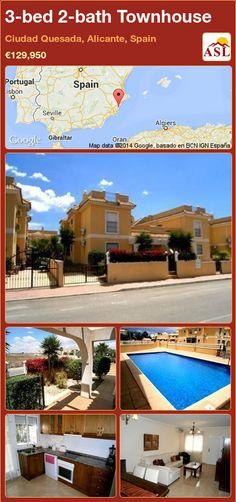 3-bed 2-bath Townhouse in Ciudad Quesada, Alicante, Spain ►€129,950 #PropertyForSaleInSpain