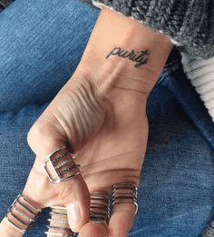 40 Cute Minimalist One-Word Tattoo Ideas For Women | YourTango