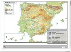 Mapa interactivo físico de España (Editorial Anaya)