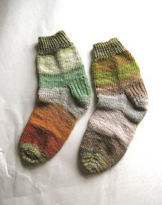 Nature Girl  Hand Knit Socks Women's Size 8  8.5 by extase on Etsy