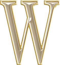 Letter W, Calligraphy Alphabet, Metallic Paint, All The Colors, Logo Design, Template, Gold, Painted Metal, Candle