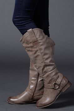 Bistre Tall Boots, Neutral and Fun Cowgirl boots