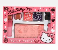 Hello Kitty 46 Piece Stamp Set    i want this T__T