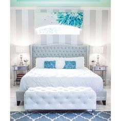 Our exclusive Jameson Bed adds chic elegance to Instagram fan @Natasha S Smith's bedroom.