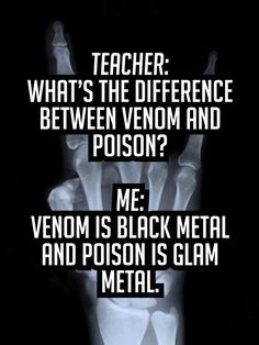 What's the difference between Venom and Poison?