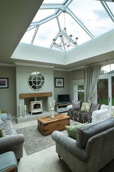 6 Prepared Tips: Roofing Ideas Articles modern roofing walkways.Shed Roofing Home concrete roofing interior. Bungalow Extensions, Garden Room Extensions, House Extensions, Sky Lanterns, Roof Lantern, Decoration Bedroom, Decoration Design, Orangerie Extension, Kitchen Orangery