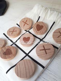 Διαδραστικό παιχνίδι τριλιζα με ξύλινα σχέδια μέσα σε υφασμάτινο πουγκακι  πρωτότυπες μπομπονιέρες βάπτισης by valentina- e0b12b5c927