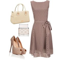 Not a fan of the brown but I like the polka dots and style of the dress.