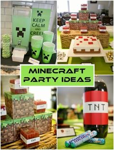 30 Awesome Easy Minecraft Party Ideas Minecraft party ideas