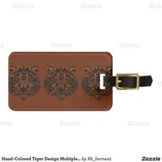 Hand-Colored Tiger Design Multiple Products Bag Tag