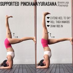 """283 Likes, 8 Comments - Roxanne Gan (@roxanne_yoga) on Instagram: """" If you find it really hard to 'kick into' pinchamayurasana forearmstand, using the wall might be…"""""""