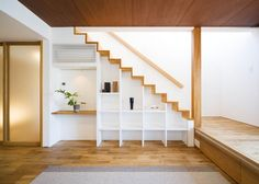 This is also true for that basement stairs. Staircase Storage, Stair Storage, Staircase Design, Under Stairs Nook, Cottage Dining Rooms, Airstream Interior, Modern Stairs, House Stairs, Modern Bathroom Design