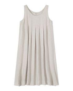 Women's Washed Linen Pleat Nightie