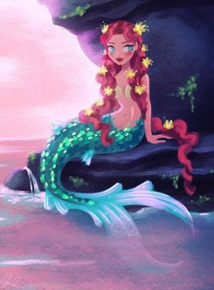 ART PRINT MINI Dylan Bonner (dylanbonner) Mermaid at Sunset by Dylan Bonner. Collect your choice of gallery quality Giclée, or fine art prints custom trimmed by hand in a variety of sizes with a white border for framing. Unicorns And Mermaids, Mermaids And Mermen, Mermaid Drawings, Mermaid Art, Fantasy Creatures, Mythical Creatures, Mermaid Illustration, Mermaid Pictures, Sunset Art