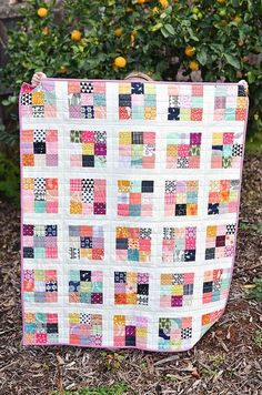 Kitchen Table Quilting: Scrappy Postage Stamp Baby Quilt