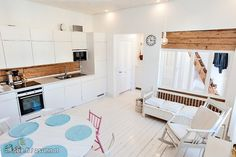 Myytävät asunnot, Puistokatu 20 E Portsa Turku #oikotieasunnot #puutalo #keittiö