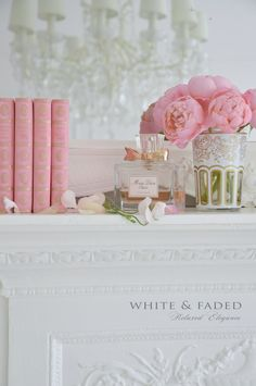 Pink French vintage books