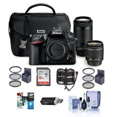 Nikon D7200 DSLR with DX 18-55mm VR  DX 70-300mm ED Lens With Free Acc Bundle