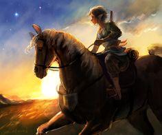 Link and Epona by Zelda Video Games, Zelda Twilight Princess, Link Art, Different Art Styles, Link Zelda, Wind Waker, Iconic Characters, Breath Of The Wild, Fire Emblem