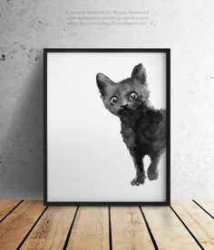 Hey, I found this really awesome Etsy listing at https://www.etsy.com/listing/220442141/black-cat-art-print-kitten-giclee-ink