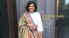 White Kurta, Gandhi, Indian Wear, Sari, How To Wear, Style, Fashion, Saree, Swag
