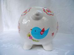 Personalized Piggy bankspainted piggy bank piggy bank with