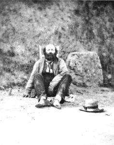 Paul Cézanne at Pointoise, 1877.