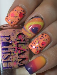 Painted Pretty: Glam Polish Margaritaville: Water Marbling Take Two!