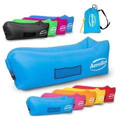 AeroBon - Gets Inflated and Holds Air 40% Better Than Analogues - Hangout Lounger Hammocks for Outdoors With Carry Bag - Inflatable Loungers for Pool or Beach - for Camping Picnics