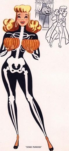 Look at those pumpkins!!! Halloween Pin Up