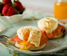 Eggs Benedict, maar dan met zalm