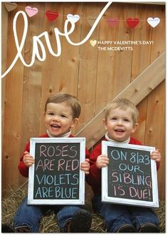 Cute Pregnancy Announcement Valentine s theme twins tipsalud Pregnancy Photos Cute Pregnancy Announcement Valentine s theme twins tipsalud Pregnancy Photos Pregnancy Photos PregnancyPhotos Pregnancy Photos Cute Pregnancy Announcement nbsp hellip frases Sibling Baby Announcements, Baby Number 2 Announcement, Valentines Pregnancy Announcement, It's A Boy Announcement, Valentines Day Baby, Valentine Theme, Sibling Gender Reveal, Baby Number 3, Pregnancy Photos