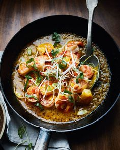 This tiger prawn toban by Ross ShonHan is brimming with punchy Japanese flavours of shiso, ponzu and a spicy chilli paste. Prawn Recipes, Curry Recipes, Veggie Recipes, Seafood Recipes, Indian Food Recipes, Asian Recipes, Ethnic Recipes, Japanese Recipes, Japanese Food
