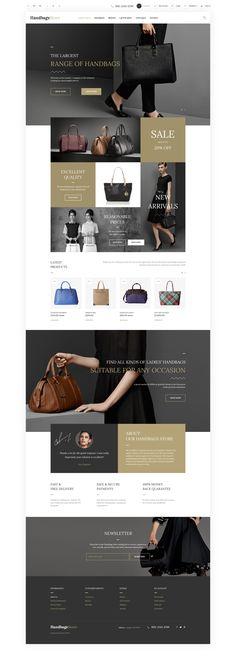 Handbags OpenCart Template http://www.templatemonster.com/opencart-templates/57682.html