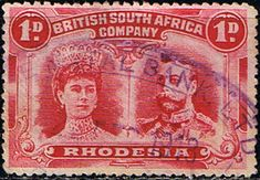 Rhodesia 1910 British South Africa Company Heads SG 125 Fine Fine Used Scott 102 Other African Stamps HERE