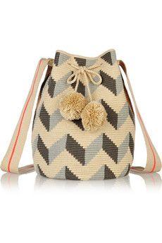 Sophie Anderson Lilia crocheted cotton shoulder bag | NET-A-PORTER