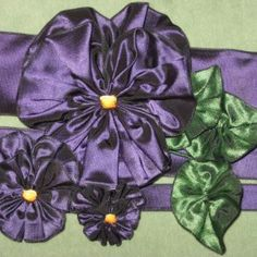 French Wired Ribbon Violet/Plum