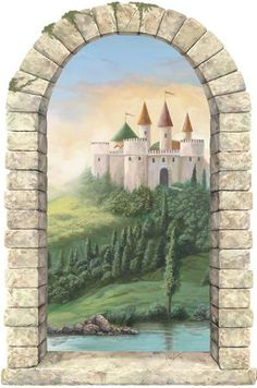 1000 images about mural ideas on pinterest murals for Castle window mural