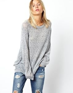 ASOS Oversized Sweater in Soft Fabric, would look great with statement necklace and hair up.