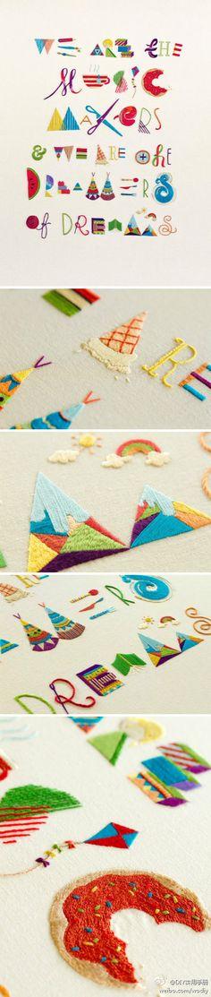 fun embroidery