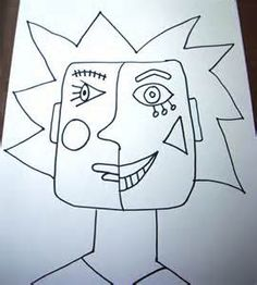Ideas for picasso art projects for kids deep space sparkle Kindergarten Art Lessons, . Cubism worksheet with Literacy and Assessment box - Art History - Pablo . Kunst Picasso, Picasso Art, Wal Art, Atelier D Art, 4th Grade Art, Ecole Art, Kindergarten Art, Art Classroom, Art Plastique