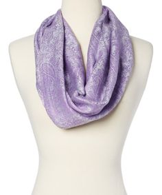 Another great find on #zulily! Lavender & Blue Infinity Scarf #zulilyfinds