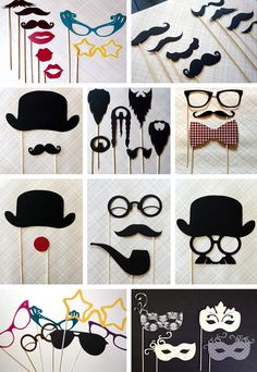 Photobooth props- not that we're going to have a photobooth at the party. Well, I do have photobooth on my mac. Last Minute Halloween Costumes, Festa Party, Partys, Party Planning, Party Time, Party Fun, Diy And Crafts, Party Crafts, Dream Wedding