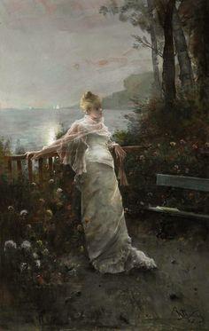Alfred Stevens. Belgian (1823–1906) by sheri