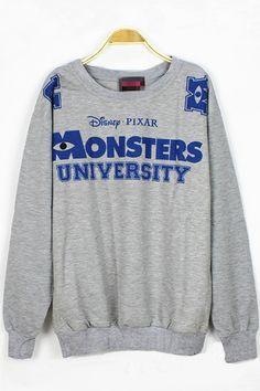 Fashion Cartoon Monster Sweatshirt