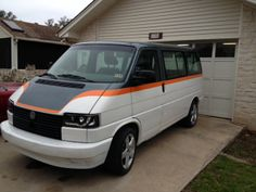 resurrected from the forgotten...our bus in company colors. VW T4 or Eurovan