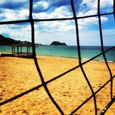 Volley match in beautiful Zarautz's beach , surf paradise(Basque Country)  www.sistersandthecity.com