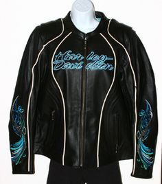 Harley Davidson Black Carousal Leather Jacket Womens XLarge Womens... my next riding jacket but in a smaller size....