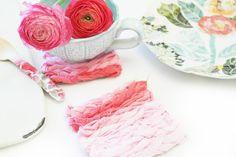DIY: woven fabric coasters tutorial